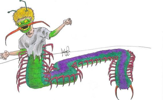 Human Centipede by OgreArt