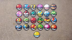 Pokeballs - Pokemon Perler Bead Sprites by MaddogsCreations