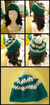 [Crochet] Slytherin Hat by SweetLittleVampire