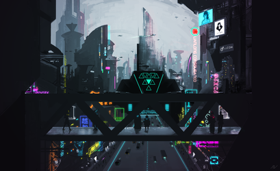 neon city by Aivyr