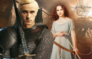 King Arthur and Guinevere by feltsbiannn