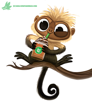 Daily Paint #1198. Capuchin'o by Cryptid-Creations
