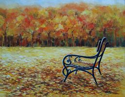 Lonely Bench by radina