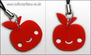 Red Apple Phone Strap by ThePeasyLifeCo