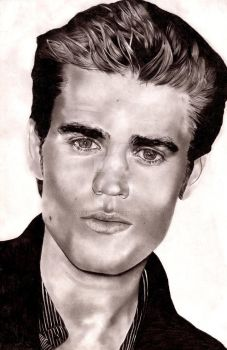 Paul Wesley drawing by Joseph0604