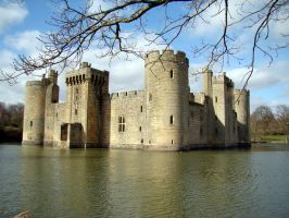 Bodiam Castle England V by babsartcreations
