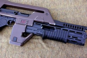 Airsoft pulse rifle close by Matsucorp