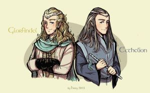 Glorfindel and Ecthelion by haleyhss
