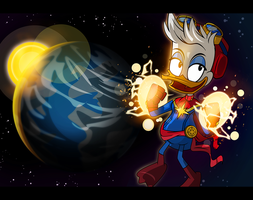 Duck Pun Captain Marvel by PixelKitties