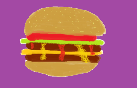 MS Paint Burger by DoryReptar13