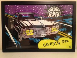 Supernatural Impala Carry On by DuctTapeDesigns