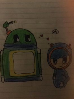 Mpreg Geo and Bot  by Andrea6675
