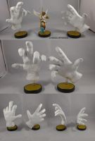 Master And Crazy Hand Amiibo by ChibiSilverWings