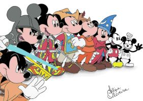 Mickey Mouse Disney - Colored by filipeoliveira