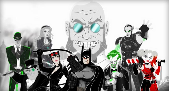 Batman Arkham City Animated Series Style Tribute by bat123spider
