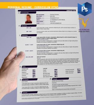 Resource: Personal Resume - Curriculum Vitae by VictoriousD