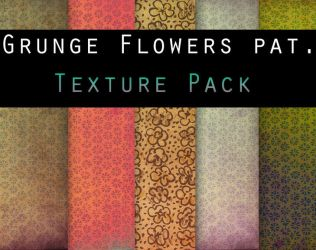 Grungy Flower Patterns by Knald