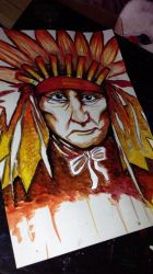 Native American Painting by KaylaMarie831