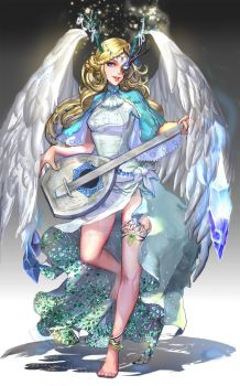 :: Ice Bard Angel  ::