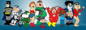 Family Guy meets Superheroes 2 by kameleon84