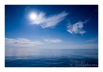 Calm Blue Sea by jackhollow