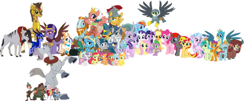 Twilight, J. Thaddeus Toad and their friends by iamnater1225