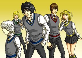 Death Note gets Potter-fied by Oriana132
