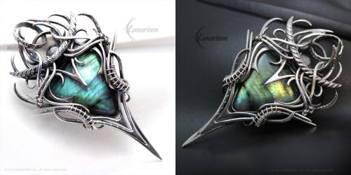XANNTHARIAL - Silver and Labradorite by LUNARIEEN