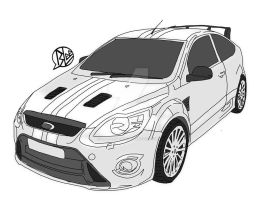ford focus rs by budoxesquire