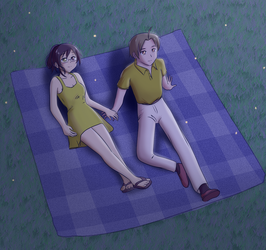 Natsume and Hisao by InstantRiot