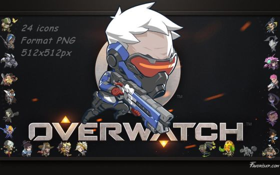 Icons PNG Heroes Overwatch by favorisxp