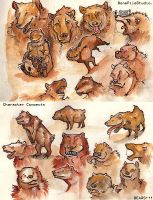 Bear::charater concepts by BonePileStudio