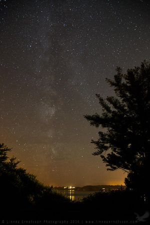 Milky Way over Falmouth Bay by linneaphoto