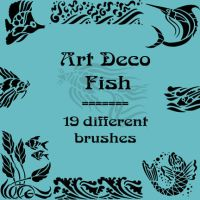 Art Deco fish by rL-Brushes
