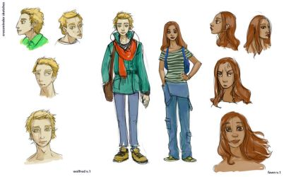Character sketches by Immah