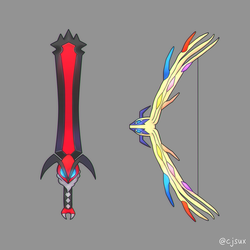 Yveltal Sword or Xerneas Bow by CJsux