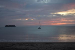 A Sailboat and a Sunset #2 by RozenGT