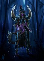 Maiev Shadowsong by MauroIllustrator