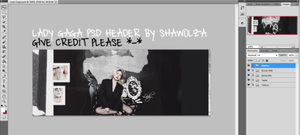LADY GAGA PSD HEADER by Shawolza