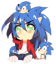 Lots of SANIC by PeachMaiden