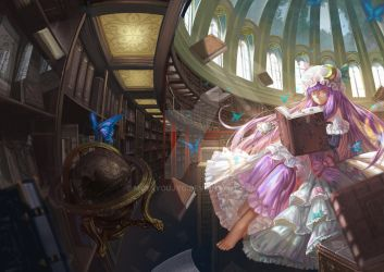 The Library by moesyoujyo