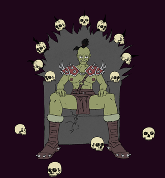Female Orc War Lord - Flat Color by crazymew