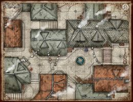 The Alleyways Battlemap by TheRedEpic