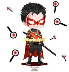 Batman Chibi Collection -  Red Robin by Sunrise-Spirit