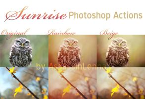 Sunrise Photoshop Actions by AssassinLenna