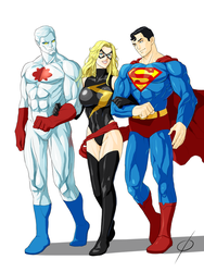 COM Ms Marvel and the Guys by chou-roninx