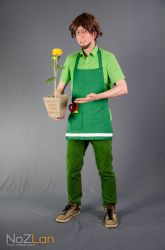 Mr Mendel cosplay - Streetpass Garden by Oloring