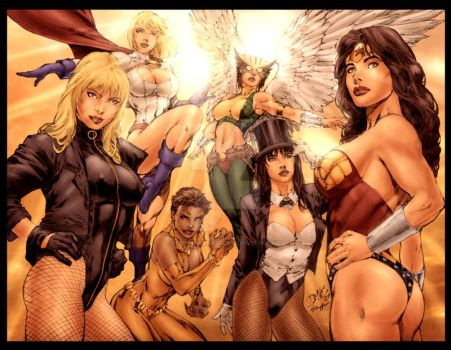 DC Babes by Ed Benes by StephenSchaffer