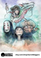 Spirited Away Tribute Painting by studiomuku