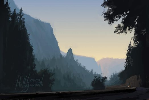Yosemite Speedpaint 2 by LauraHollingsworth